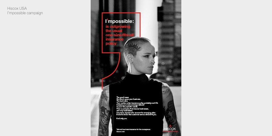 Hiscox USA Impossible advertising campaign