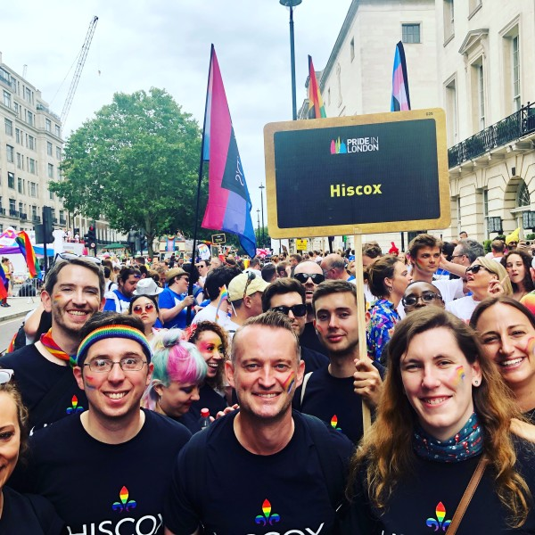 Hiscox LGBT+ network at Pride in London