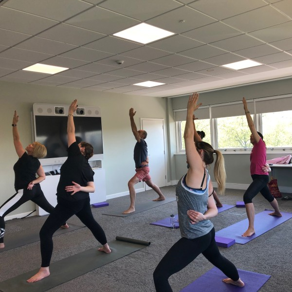 Hiscox WeMind network yoga in Colchester